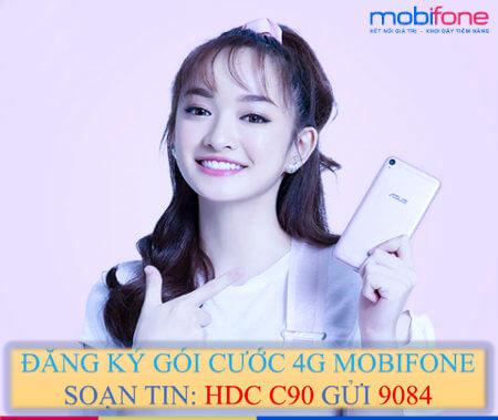 Đăng ký gói cước C90 MobiFone được 2 GB Data mỗi ngày