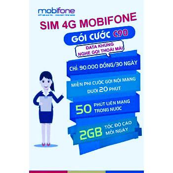 Đăng ký gói C90 MobiFone nhận ngay ưu đãi Data khủng