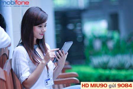 Đăng ký gói MIU90 MobiFone chỉ với 90.000đ có ngay 5.5 GB Data truy cập Internet tốc độ cao