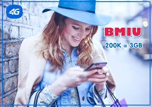 Chỉ với 200.000đ/30 ngày, đăng ký gói cước 3G BMIU MobiFone