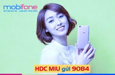 Đăng ký gói cước 4G MIU MobiFone không giới hạn dung lượng