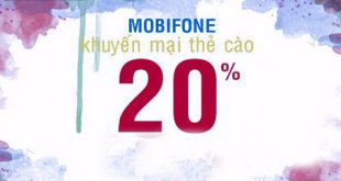 Khuyến mãi nạp thẻ MobiFone ngày vàng 20% giá trị thẻ nạp